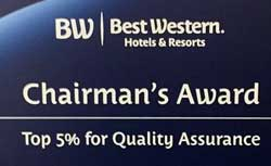 Chairmans Award BestWestern Budget Great Hotels Newton Iowa